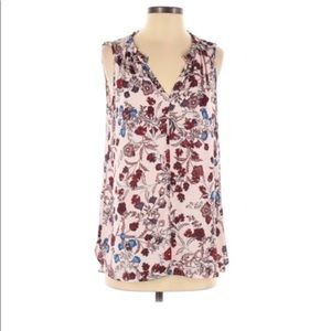 Vince Camuto Floral Sleeveless Blouse Small
